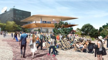 How the new Apple store will look at Federation Square.