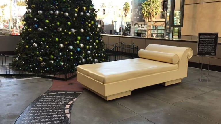 Tourist bench or sinister casting couch?