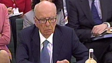 Rupert Murdoch, pictured giving evidence in the wake of <i>News of The World's</i>  phone-hacking scandal.