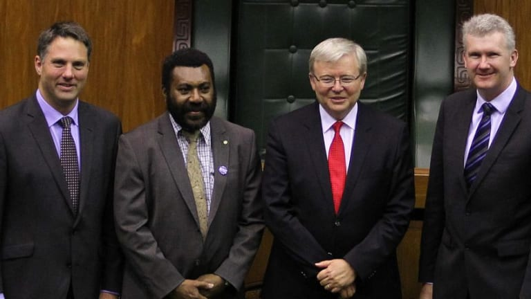 Richard Marles, former prime minister Kevin Rudd and Tony Burke established asylum seeker processing with Papua New Guinea in 2013.
