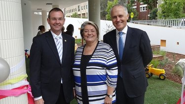 Waverley mayor Sally Betts, pictured with Member for Coogee Bruce Notley Smith and Prime Minister Malcolm Turnbull, is at the centre of a political stoush over a code of conduct investigation.