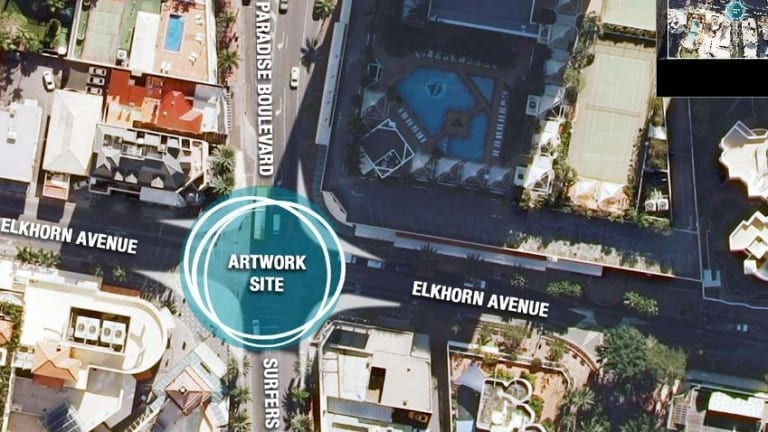 Where the Surfers Paradise urban oasis public art project will be built.