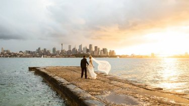 The moment captured by the couple's wedding photographer Liv Corbett.