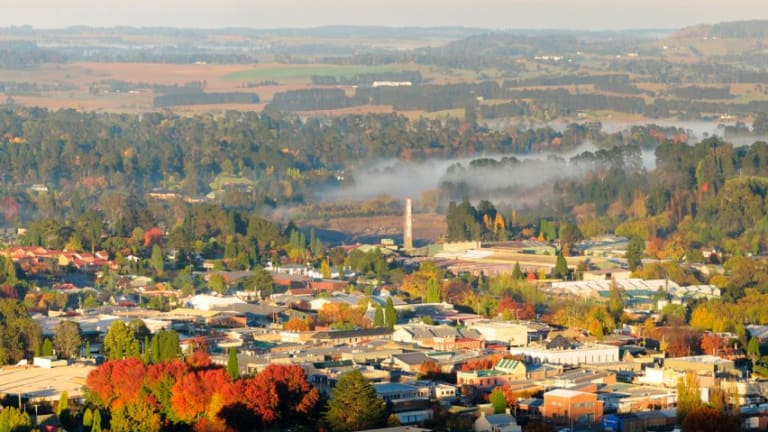 View over picturesque Bowral from atop Mt Gibraltar.