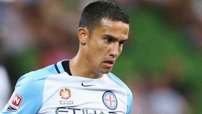 Tim Cahill of the City has encouraged promising young player Denis Genreau to aim high.