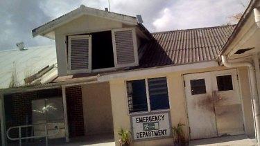 A picture of Nauru hospital supplied by an asylum seeker.