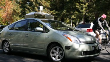 One of the early model Google prototype driverless cars. A US expert says factoring in human leadfoots is a problem for programmers.