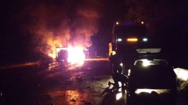 Two truck drivers are dead after a fiery crash on Picton Road.