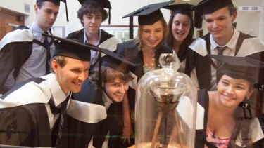 On Thursday, the ninth dollop of pitch to fall in 83 years touched down at University of Queensland.