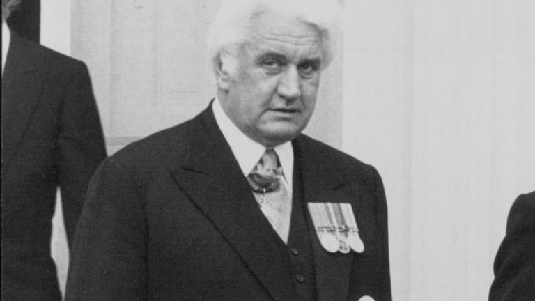 The then governor-general Sir John Kerr.