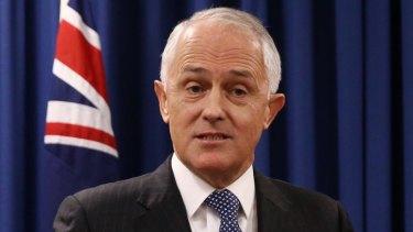 Pro-plebiscite: Prime Minister Malcolm Turnbull.