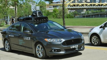 A driverless car being trialled in the United States.
