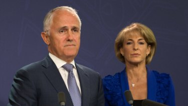 Senator Michaelia Cash, right, will introduce a tougher version of the Registered Organisations bill, which has been rejected by the Senate three times in narrow votes.