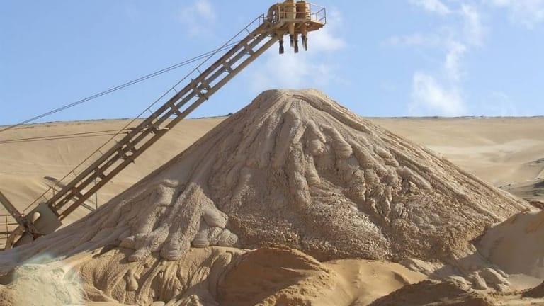 Stradbroke Island sand mining.