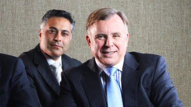 Fahour with John Stewart during his time at the National Australia Bank.