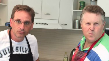 Two Brisbane dads show off skills and dad jokes on Youtube