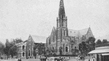 Albert Street Uniting Church, as it was in 1914 as the Albert Street Wesleyan Methodist Church.