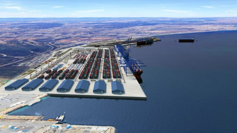 A 3D render of the Outer Harbour project