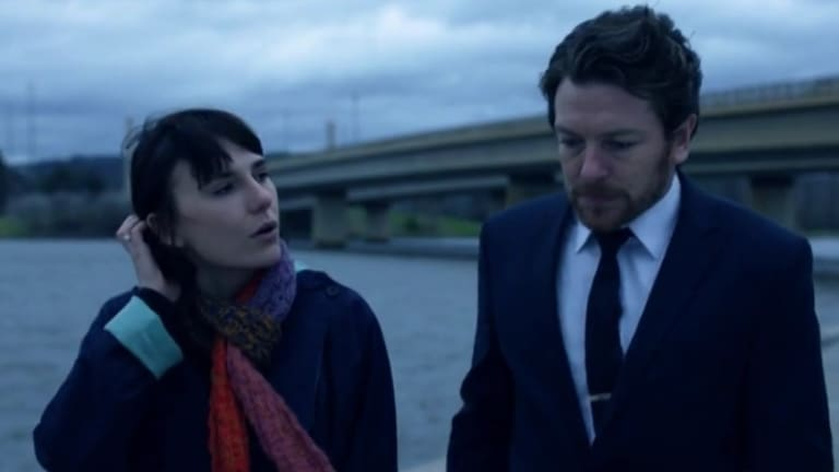 Lake Burley Griffin provides a suitably shady backdrop in this scene of The Code Season 2, which starts September 1 on ABC.