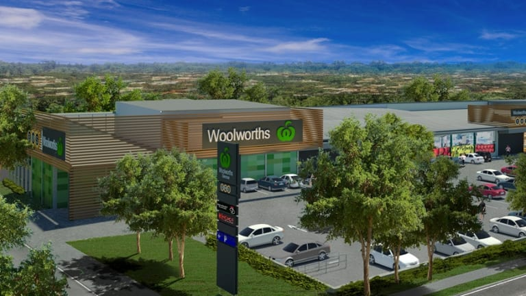 The new Woolworths at the Glenrose Village shopping centre.