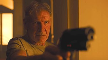 A much-older Rick Deckard (Harrison Ford) returns in <i>Blade Runner 2049</i>.