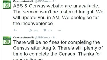 Twitter exploded as the census website failed overnight.