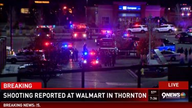 A shooting was reported at a Walmart in Thornton, Colorado.