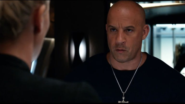 Vin Diesel in the Fate and the Furious.