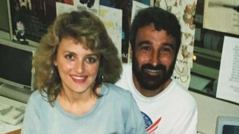 Louise Langdon when she worked with Don Burke at 2UE.