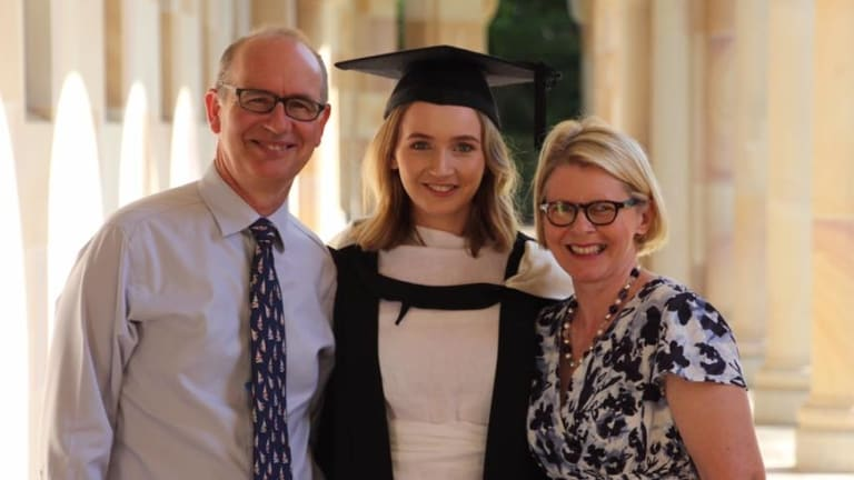 """Dr Andrew Bryant and his wife Susan with their daughter, Charlotte. """"His four children and I are not ashamed of how he died,"""" Mrs Bryant wrote."""