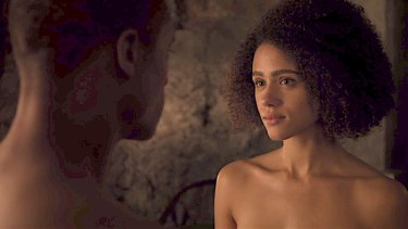 Let's get it on: Missandei and Grey Worm let their feelings show – and a bit else besides.