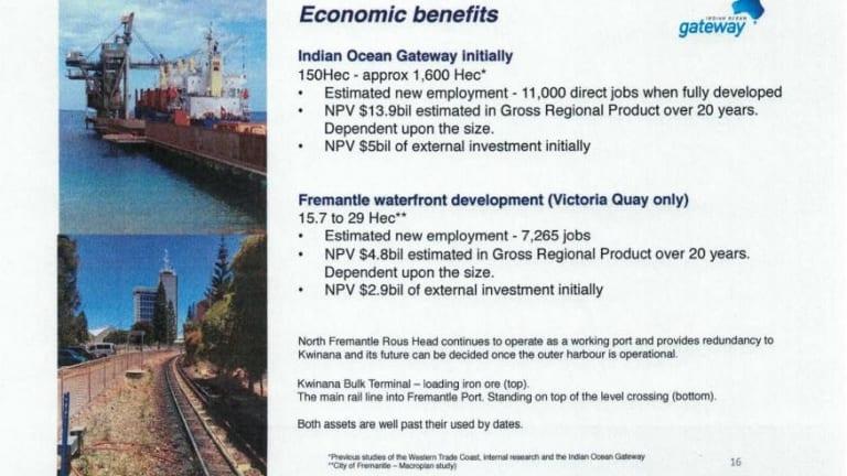 A slide from Mr Edwards' presentation.