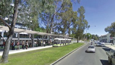 An artist's impression of the city interchange for the proposed Canberra tram.