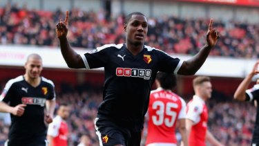 Orion Ighalo opens the scoring for Watford.
