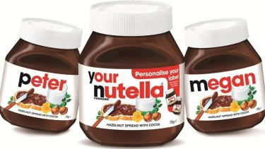 "Nutella said the personalised labels were intended to be a ""fun and joyful"" campaign."