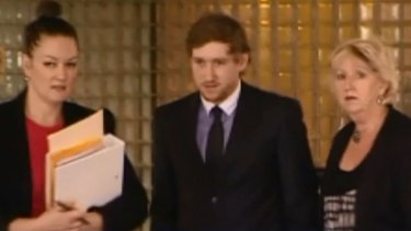 Ben Smith outside court on Monday sentenced for killing cyclist Steve Jarvie.