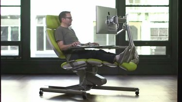 The Altdesk also allows for sitting.