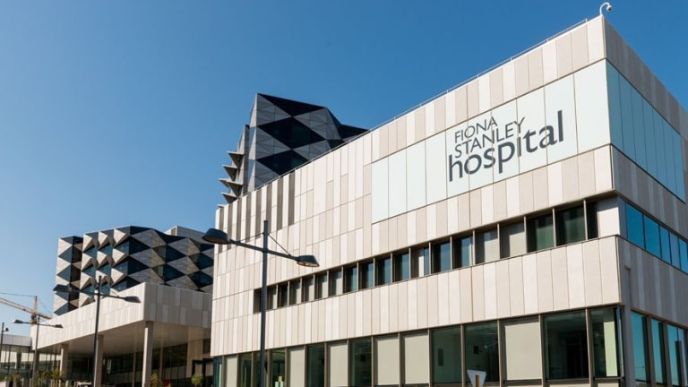 Fiona Stanley Hospital in Perth, where Alan Bond died on Friday