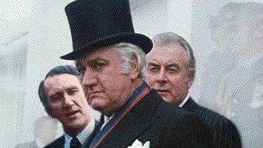 Malcolm Fraser, John Kerr and Gough Whitlam.