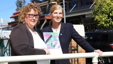 Micah Projects CEO Karyn Walsh (left) and Community Solutions CEO Rosanne Haggerty helped launch the Housing First Roadmap for Brisbane.