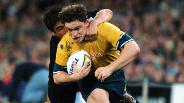 Rod Kafer during his Wallabies career in 1999.