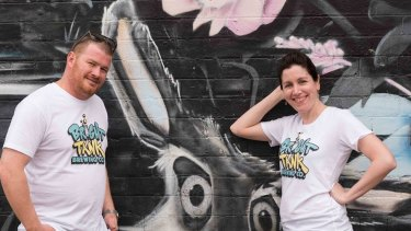 Bright Tank owners Matthew Moore (head brewer) and Gemma Sampson (operations manager).