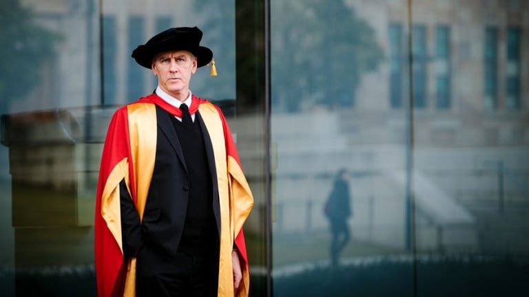 Robert Forster of the Go-Betweens was awarded an honorary Doctor of Letters by the University of Queensland.