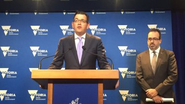 Premier Daniel Andrews announcing the Night Court.