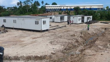 At the time the Manus detention centre closed, housing meant for asylum-seekers was still under construction.