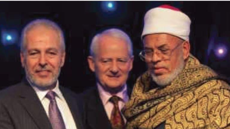 AFIC President Hafez Kassem (left) with Phillip Ruddock.
