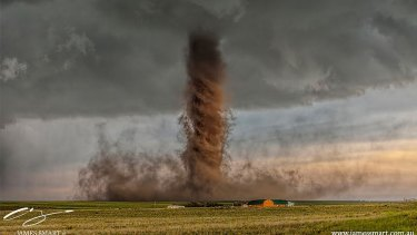 James' winning photo of the rare cyclone in Colorado earlier this year.