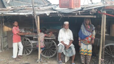 Naeem and Hamida-Mohammad in their New Delhi home.