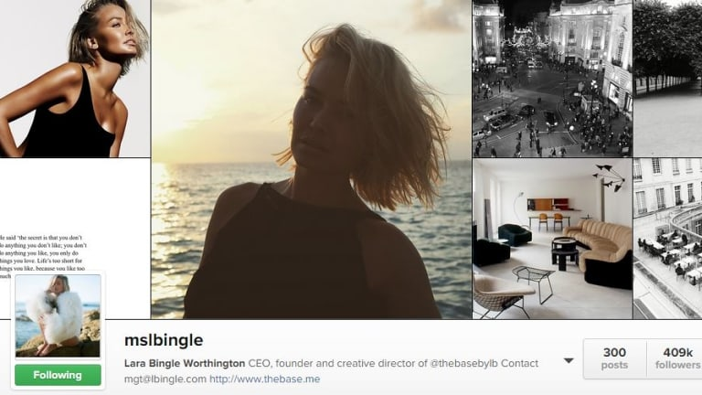 Sunny: Lara Bingle's new look Instagram account.