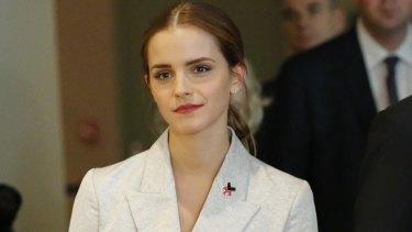 HeForShe campaigner Emma Watson.